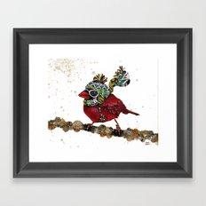 Cardinal Blaze 3 Framed Art Print