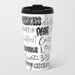 Endearments (grayscale) Travel Mug