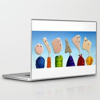 faces Laptop & iPad Skins featuring Faces by Marlene Llanes