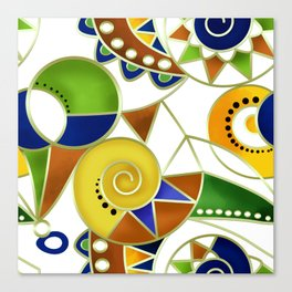 Abstraction . Colorful pattern in yellow green tones . Canvas Print