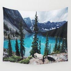 Lake Moraine Alberta Wall Tapestry