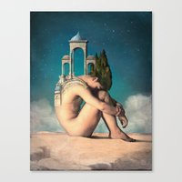 dreamer Canvas Prints featuring Dreamer by Christian Schloe