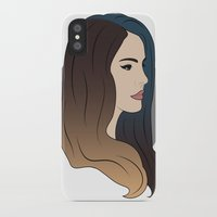 lana del rey iPhone & iPod Cases featuring Del Rey by ohsnapbazinga