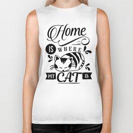 Home is where my cat is Biker Tank