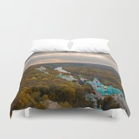 ukraine Duvet Covers featuring Holy Mountains Monastery (Ukraine)  by Limitless Design