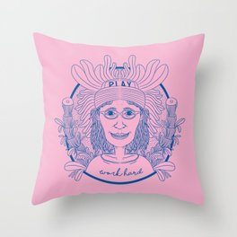 WORK HARD GIRL Throw Pillow