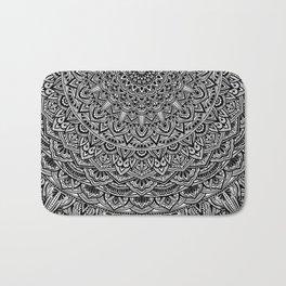 Zen Black and white Mandala Bath Mat