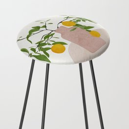 Lemon Branches Counter Stool