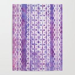 Lavender Lace Poster