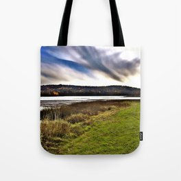 Autumn Lake Day Photography Tote Bag