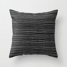 Lines Black Throw Pillow