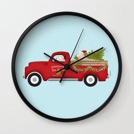 Cocker Spaniel Tree Farm Dog Christmas Truck  Wall Clock