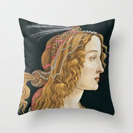 Sandro Botticelli -  Portrait of a Young Woman Throw Pillow