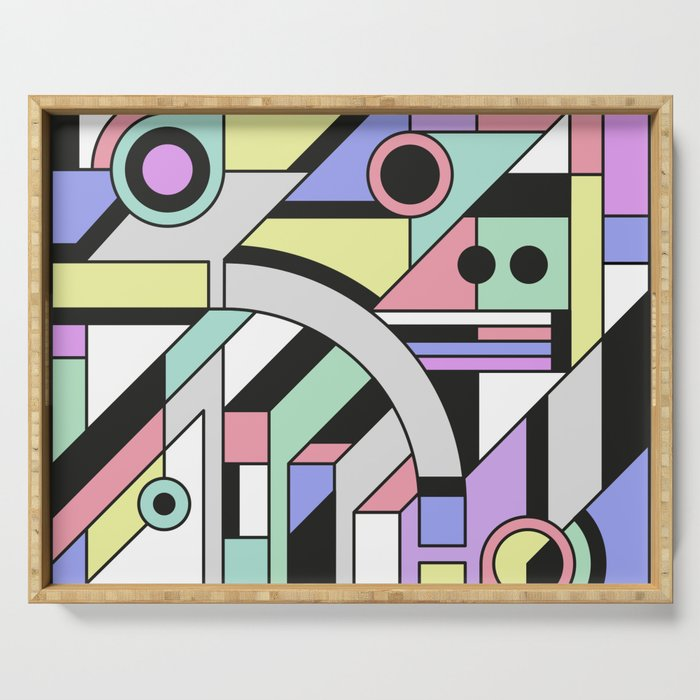 De Stijl Abstract Geometric Artwork Serving Tray
