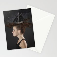 Sailing - Black Stationery Cards