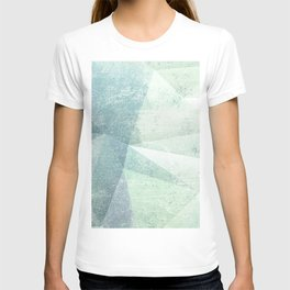 Frozen Geometry - Teal & Turquoise T-shirt