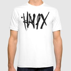 Happy White MEDIUM Mens Fitted Tee
