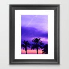 Palm Sunset - 6 Framed Art Print