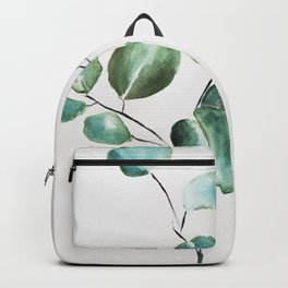 Eucalyptus leaves, illustration, botanical Backpack