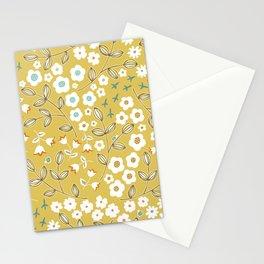 Ditsy Mustard Stationery Cards