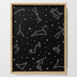 Western Zodiac Constellations Serving Tray