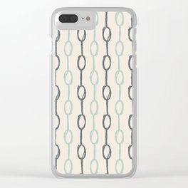 Girly Dot Stripe 4 Clear iPhone Case