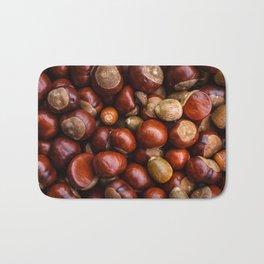 Castanea Chestnuts Nuts pattern Bath Mat