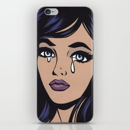 Raven Sad Comic Girl iPhone Skin