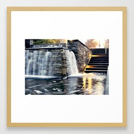 Wet Stairs Framed Art Print