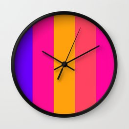 colour pattern Wall Clock