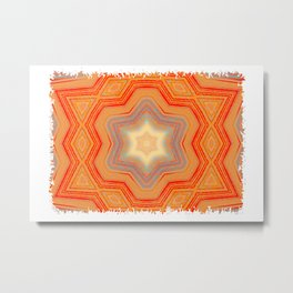 Orange geometrical pattern Metal Print