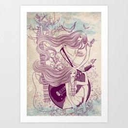 Music, Love, Peace Art Print