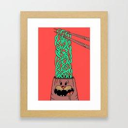Noodle-Brains Framed Art Print
