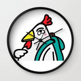 tyler duck in love Wall Clock