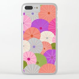 Colorful Sea Urchins 3 Clear iPhone Case