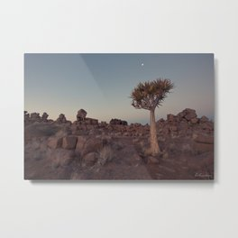 Desert Quiver Tree at dusk - Landscape photography #Society6 Metal Print