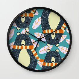 Four bears Wall Clock
