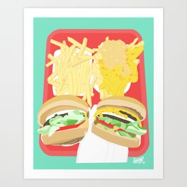In-N-Out Art Print
