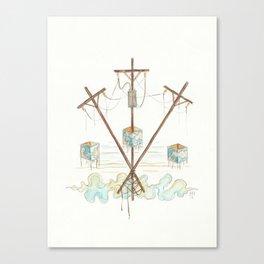 (I Followed) Telephone Lines Canvas Print