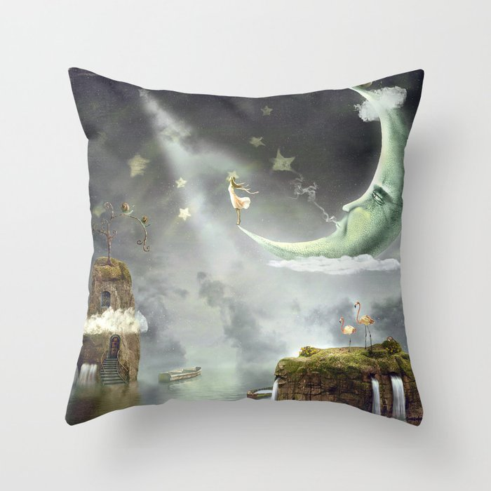 Night. Time of miracles and magic Throw Pillow
