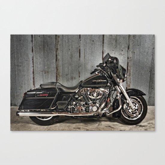 Black Harley Street Glide Canvas Print