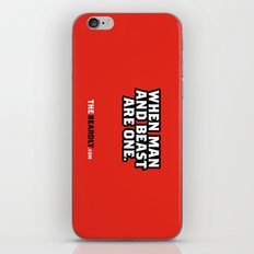 WHEN MAN AND BEST ARE ONE. iPhone & iPod Skin