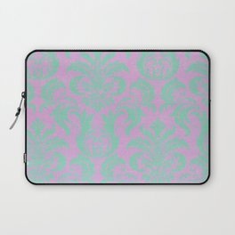 Modern vintage teal purple floral damask pattern Laptop Sleeve