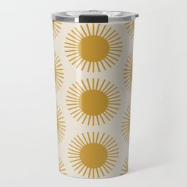 Golden Sun Pattern Travel Mug