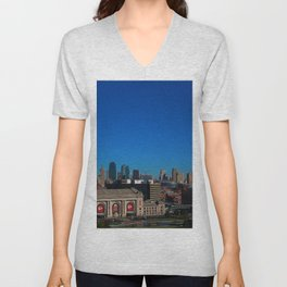 Kansas City Skyline Unisex V-Neck