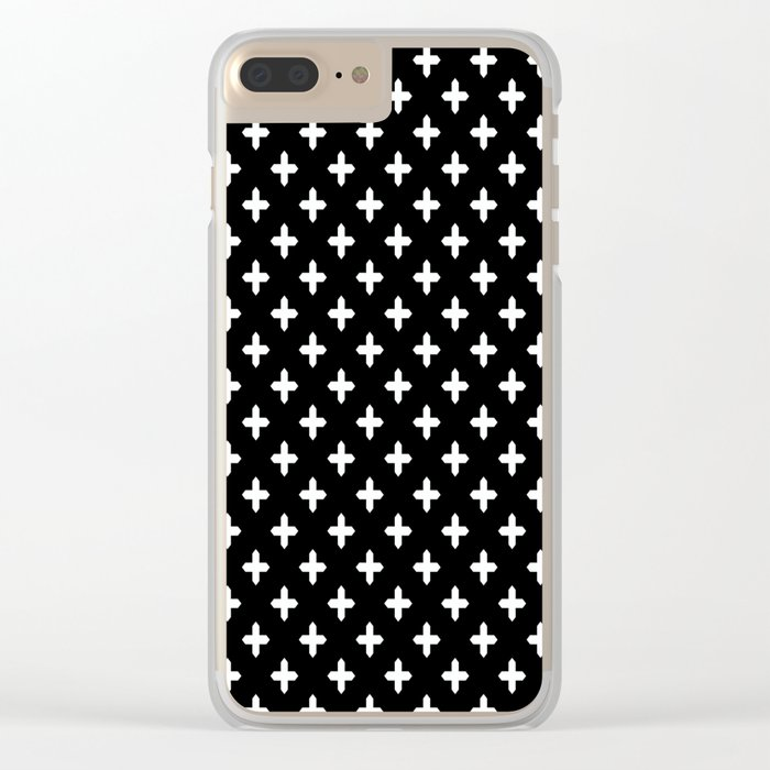 Simple Scandinavian black and white pattern . Clear iPhone Case