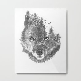 Wolf - The Wild and the Wilderness Metal Print