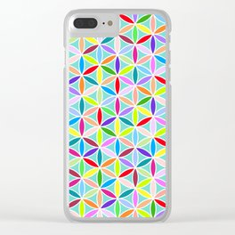 Flower of Life Pattern – Multicoloured Clear iPhone Case