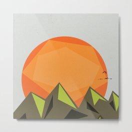 Good morning mountain Metal Print