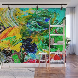 Wind in Motion. Abstract Painting. Texture Wall Mural